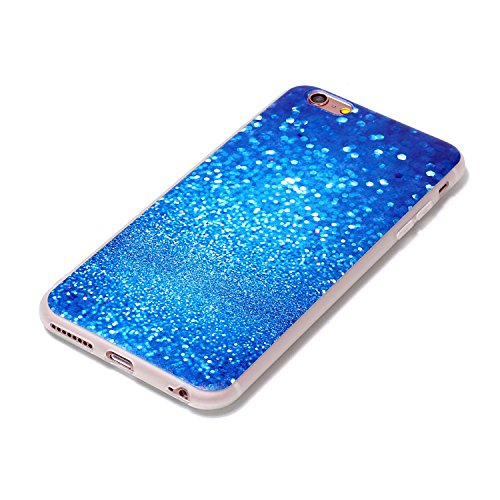 iphone 6S plus/6 plus 5.5 Cover Silicone, Custodia per iphone 6S plus Morbido, iphone 6 plus Cover Trasparente, Ekakashop Varnish Clear Coating Sollievo La pittura Fashion Colorato Modello 3d Gel Sil Blu Cielo Stellato