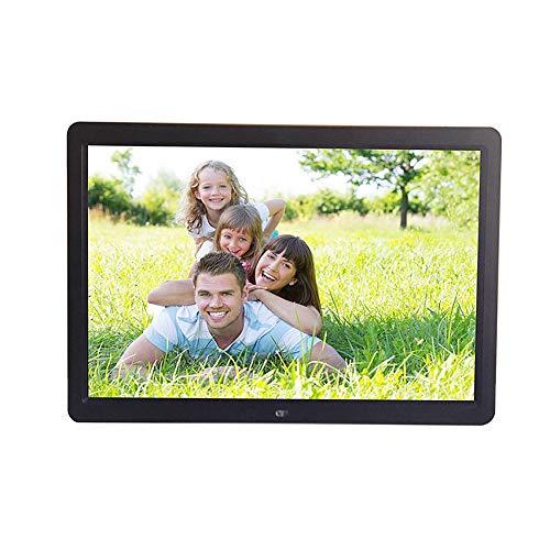 QYEND 15 Zoll-Digital-Foto-Rahmen, 1080P HD-Video-Wiedergabe Elektronisches Album Mit 1280 * 800 IPS-Display, Unterstützung MS/SD/MMC-Karte HDMI-Eingang Digitaler Bilderrahmen,Schwarz,US