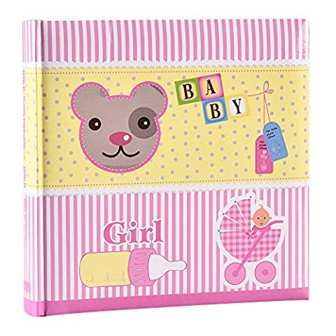 Baby Girl Pink Slip In Case Photo Album For 200 Photos (4'' x 6) by ARPAN