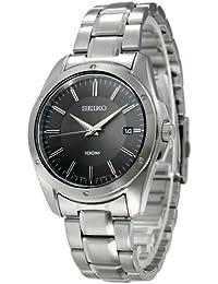 Seiko SGEF79P1 - Reloj analógico de cuarzo para hombre con correa de acero inoxidable, color plateado