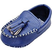 MK Matt Keely Bebé Chicas PU Zapatillas Niñito Borla Mocasines Zapatos