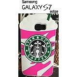 Starbucks 3D Ice Cream Glace Rose Soft coque étui en silicone Coque pour Samsung Galaxy S7 EDGE