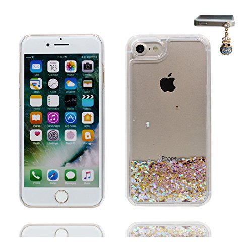 iPhone 6 Custodia, Bling Glitter ultra sottile, Case iPhone 6s Copertura, Shock Dust Resistant Shell iPhone 6 Cover 4.7 & tappi antipolvere bianca # 4