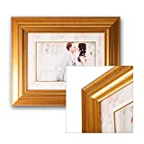 Hochzeit Bilderrahmen Aphrodite - mit wunderschönen Passepartouts für alle Foto Formate - handgefertigt, Museumsqualität, Fotorahmen, Porträtrahmen - Rahmengröße: 50x70cm - für Foto: DINA2