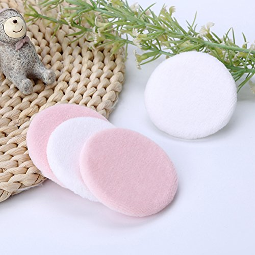 Frcolor 10Pcs kosmetische Gesicht Puderquaste, waschbare Velour Puffs für Foundation Make-up (mit...