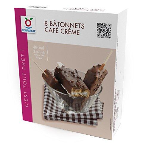 TOUPARGEL - Bâtonnets café crème - 8 x 38 g - Surgelé