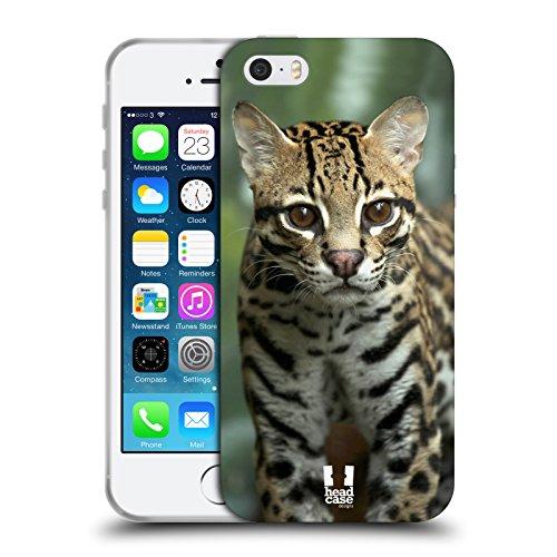 Head Case Designs Deux Tigres Blancs Animaux Célèbres Étui Coque en Gel molle pour Apple iPhone 6 Plus / 6s Plus Gros Plan D'Un Ocelot
