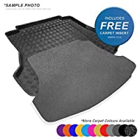 carmats4u To fit GLA 2013+ Fully Tailored PVC Boot Liner/Mat/Tray + Grey Carpet Insert