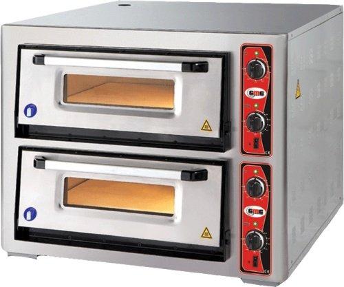 Pizzaofen ohne Thermometer, 2 Kammern, 4+4 Pizzen Ø 30 cm