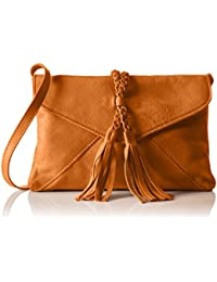 PIECES Pcaxelle Leather Cross Over Bag - Bolso bandolera Mujer