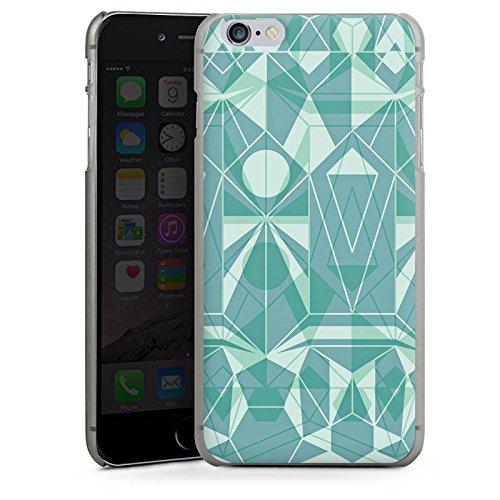 Apple iPhone X Silikon Hülle Case Schutzhülle Grafik Muster Grün Hard Case anthrazit-klar