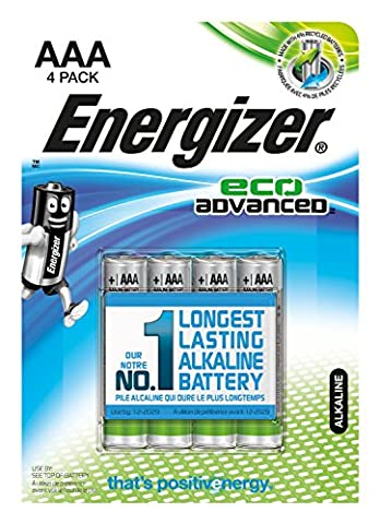 Energizer E300128100 - Batterie Eco avancée AAA / Micro / LR03 4-Pack