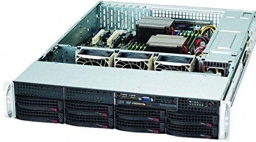 Super Micro CSE-825TQ-R720LPB Server Gehäuse 2U inkl. 700W (E-ATX, 8x 3,5 SAS/SATA, 2x USB) schwarz