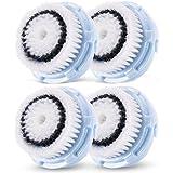 La cabeza del cepillo del reemplazo del Delicado de la piel para Clarisonic MIA MIA y 2, PRO, PLUS Limpiadores faciales (4 Pack)