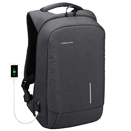 bb0e45da1e94 Laptop Backpack, Kingsons Business Travel Computer Bag with USB Charging  Port Anti-Theft Water Resistant for 15.6-Inch Laptop (13.3 Inch, Dark Grey)