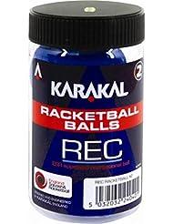 Karakal reactional Racquetball pratique Racquetball Match Tube Balles de jeu de 2Bleu