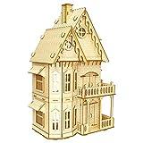 lā Vestmon Modèle en bois 3D Maison de poupée Modèle d'assemblage de jouet Puzzle en trois dimensions Laser Cut Puzzle en Bois Jeu de Puzzle en 3D Puzzles 3D de modele de maison de village en bois