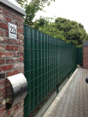 ABZ-Zaunsysteme SIGMA - Sistema de protección para vallas y puertas de metal (26 m), color verde