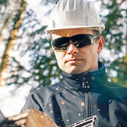 NoCry Sonnen-Schutzbrille mit grün getönten, kratzbeständigen Gläsern, Seitenschutz und rutschfesten Bügeln, UV 400 Schutz, verstellbar, schwarz grüner Rahmen. - 5