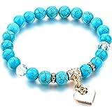 Bracelet Perles & Coeur en Plaqué Or