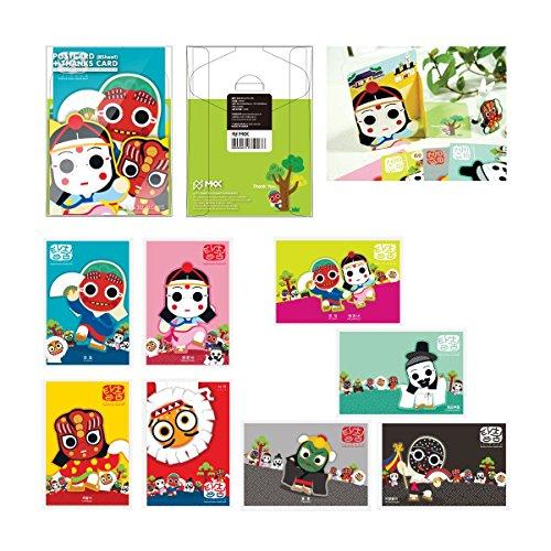 Tanz Talchum Postkarten 8 Blatt Papier 4 x 6 Postkarte Porto drucken ()