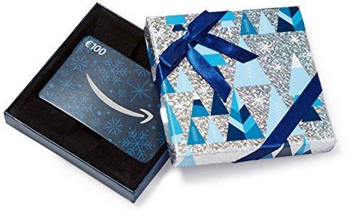Amazon.de Geschenkkarte in Geschenkbox - 100 EUR (Blau und Silber)
