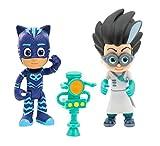 Giochi Preziosi - Super Pigiamini Pj Mask, Coppia Personaggi, Gattoboy con Funzione e Romeo
