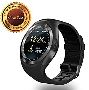 Lambent Y1 Smartwatch Round Nano SIM TF Card for Samsung, LG and Sony (Multicolour)