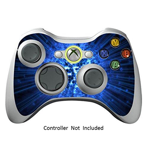 Xbox 360 Controller Designfolie Sticker - Vinyl Aufkleber Schutzfolie Skin für Xbox 360 Controller - Blue Explosion (Minecraft Xbox 360-controller)