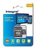 Integral 512Go Micro SDXC Class 10Carte mémoire pour Smartphones et tablettes