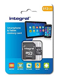 Integral 512 GB Micro SDXC Class 10 Memory Card for Smartphones and Tablets