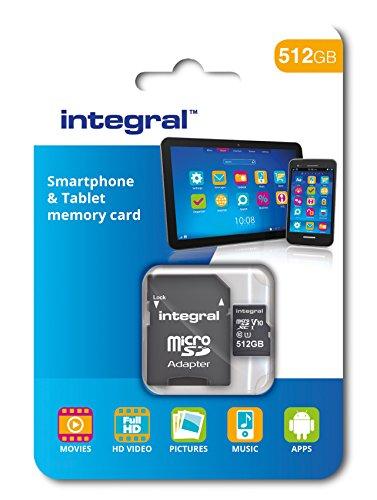 Integral 512gb micro sdxc class 10scheda di memoria per smartphone e tablet