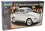 alles-meine.de GmbH VW Volkswagen Käfer Coupe 1968 Beige 07083 Bausatz Kit 1/24 Revell Modell Auto mit individiuellem Wunschkennzeichen