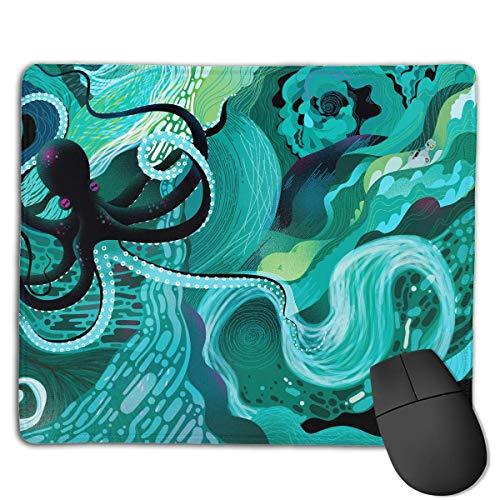 chfeste Gummi Gaming Mousepad (niedliche Krake Ozean Illustration, 8,66 x 7,08 Zoll) ()