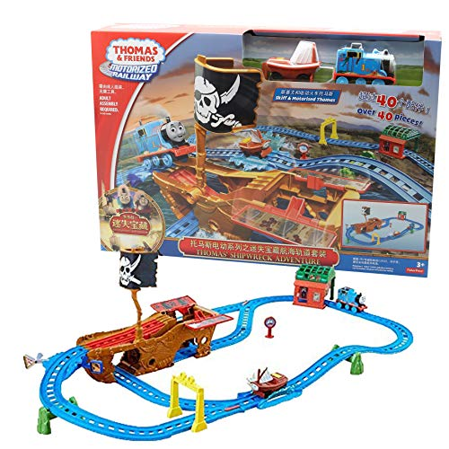 Thomas and Friends Trackmaster Shipwreck Adventure Motorized Railway Train Set Games for Kids Educational Toy for Boys