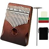 CAMPSLE Kalimba 17 touches Thumb Piano Harp avec ton autocollant et Tune Hammer, Portable Mbira Sanza Wood Finger Piano Carli