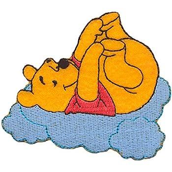 patche 7,8x6cm Winnie Puuh avec Teddy Disney Comic enfants Ecusson jaune