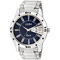 Luba Analogue Blue Dial Day And Date Displaying Stainless Steel Chain Watches For Boys/Men_Luba171