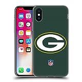 Head Case Designs Offizielle NFL Einfarbig Green Bay Packers Logo Soft Gel Huelle kompatibel mit iPhone X/iPhone XS