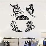 Your boy-HT Snowboard Wandaufkleber Winter Extreme Sport Wandtattoos Vinyl Snowboard Wand Poster Wohnkultur Snowboard Spieler Wandbild 57x46 cm