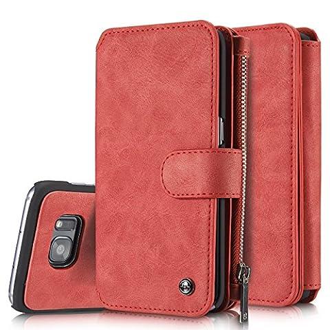 Roreikes Coque Samsung Galaxy S7 Edge, Multifonction Case Wallet Cover