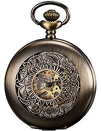 KS KSP046 - Reloj de Bolsillo Hombre Mecánico de Cuerda Manual