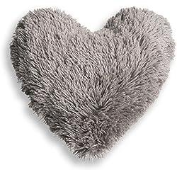 Cojín Corazón Marmota Gris