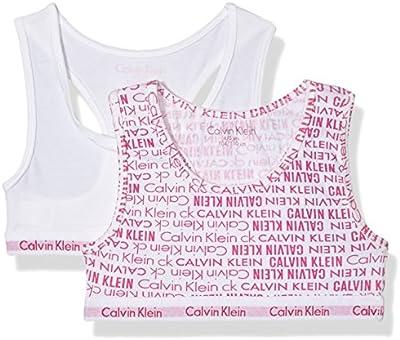 Calvin Klein 2pk Bralette, Sujetador para Niñas