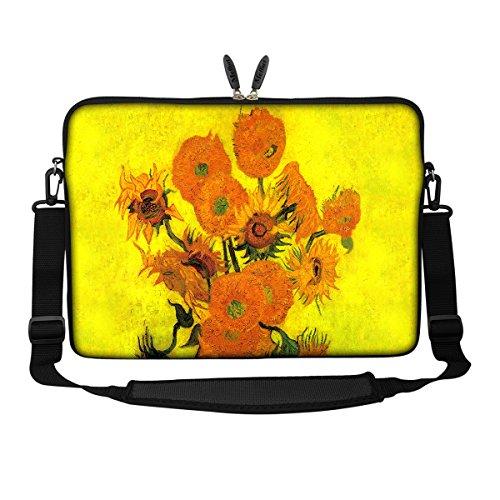 Meffort Inc 1539,6cm Neopren Laptop Sleeve Tragetasche mit verstecktem Griff und verstellbarem Schultergurt Van Gogh Sunflowers