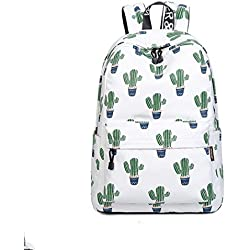 Joymoze Bonita Mochila Escolar Impermeable Para Niños y Niñas - Cartera Ligera de Estampado Elegante Cactus 844