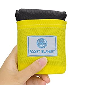 51GN3IqqW4L. SS300  - KINGA Pocket Camping Blanket Lightweight Water Resistant for Picnic, Beach, Climbing Large Size Suitable for Outdoors Activities