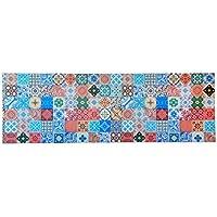 Amadeo Novell Cuadro Baldosas Hidráulicas, Madera, Multicolor, 150x40x4 cm
