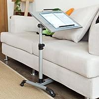 SoBuy® Tavolo portatile,tavolo console,tavolo pieghevole, Altezza regolabile ,FBT07N-SIL,IT (L33*L52*A61.5-85cm, argento)