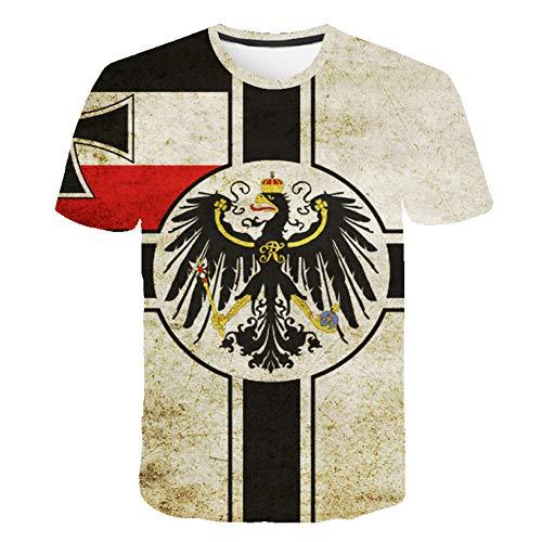 ZCYTIM Retro Bundes Republik Deutschland Flagge T-Shirt Männer/Frauen Paar Lovers Modelle Fashion Kurzarm Rundhals t-Shirt -